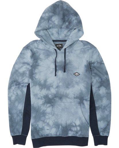 3 Wave Washed Pullover - Batik-Hoodie Sweatshirt für Herren Blau S1FL07BIP0 Billabong