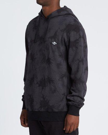2 Wave Washed Pullover - Batik-Hoodie Sweatshirt für Herren Schwarz S1FL07BIP0 Billabong