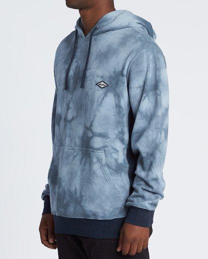 2 Wave Washed Pullover - Tie-Dye Hoodie Sweatshirt for Men Blue S1FL07BIP0 Billabong