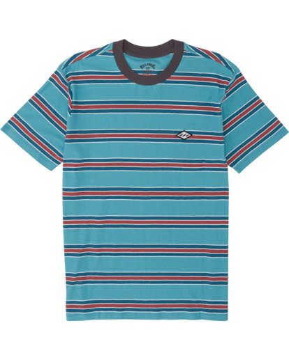 3 Die Cut - Striped T-Shirt for Men Blue S1JE06BIP0 Billabong