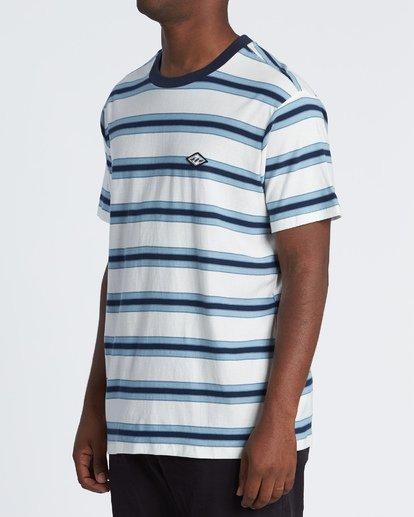2 Die Cut - Gestreiftes T-Shirt für Herren Weiss S1JE06BIP0 Billabong