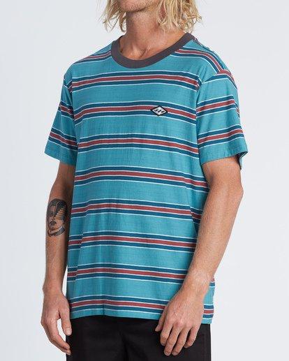 1 Die Cut - Striped T-Shirt for Men Blue S1JE06BIP0 Billabong