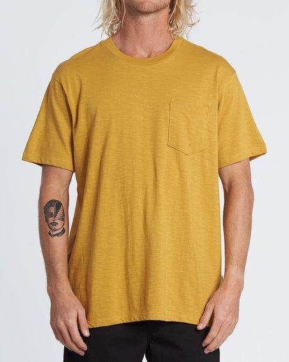 0 Mesa Slub - Camiseta de color liso para Hombre Plateado S1JE11BIP0 Billabong