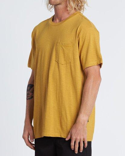 2 Mesa Slub - Camiseta de color liso para Hombre Plateado S1JE11BIP0 Billabong