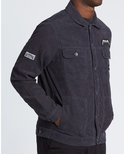 3 Ride The Lightning - Corduroy Jacket for Men Blue S1JK35BIP0 Billabong