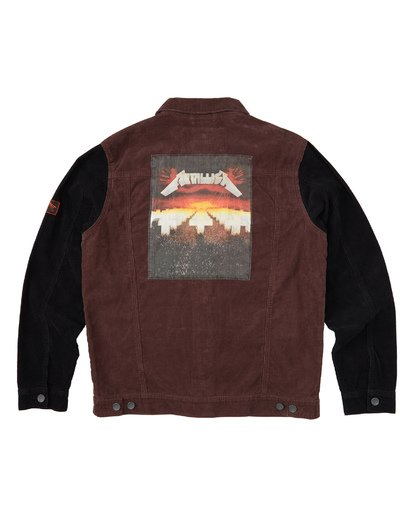6 Master Of Puppets - Corduroy Jacket for Men Red S1JK36BIP0 Billabong