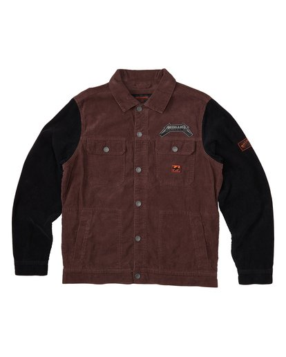 5 Master Of Puppets - Corduroy Jacket for Men Red S1JK36BIP0 Billabong