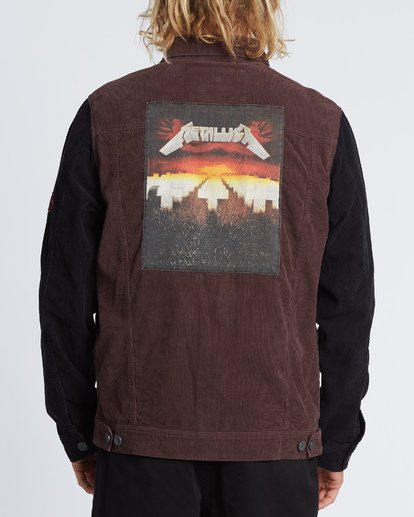 1 Master Of Puppets - Corduroy Jacket for Men Red S1JK36BIP0 Billabong
