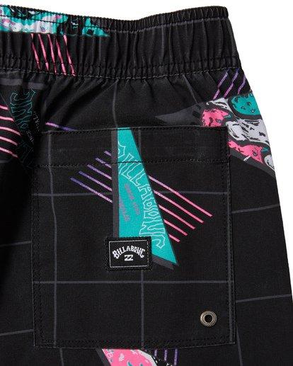 """8 Sundays Pigment Laybacks 17"""" - Bañador de surf de pantalón con cintura elástica para Hombre Negro S1LB02BIP0 Billabong"""
