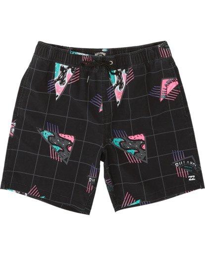 """2 Sundays Pigment Laybacks 17"""" - Bañador de surf de pantalón con cintura elástica para Hombre Negro S1LB02BIP0 Billabong"""