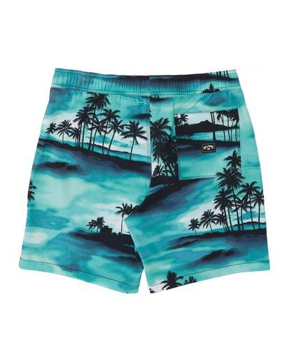 "3 Sundays Pigment Laybacks 17"" - Elastic Waist Board Shorts for Men Blue S1LB02BIP0 Billabong"
