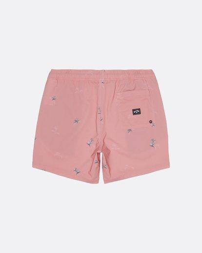 """1 Sundays Pigment Laybacks 17"""" - Bañador de surf de pantalón con cintura elástica para Hombre Rosa S1LB02BIP0 Billabong"""