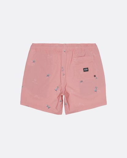 "1 Sundays Pigment Laybacks 17"" - Elastic Waist Board Shorts for Men Pink S1LB02BIP0 Billabong"