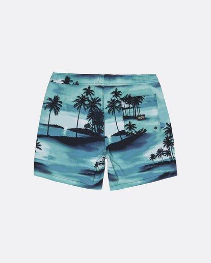 "1 Sundays Pigment Laybacks 17"" - Elastic Waist Board Shorts for Men Blue S1LB02BIP0 Billabong"