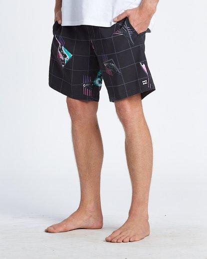 """11 Sundays Pigment Laybacks 17"""" - Bañador de surf de pantalón con cintura elástica para Hombre Negro S1LB02BIP0 Billabong"""