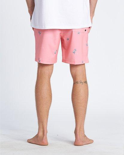 "5 Sundays Pigment Laybacks 17"" - Elastic Waist Board Shorts for Men Pink S1LB02BIP0 Billabong"
