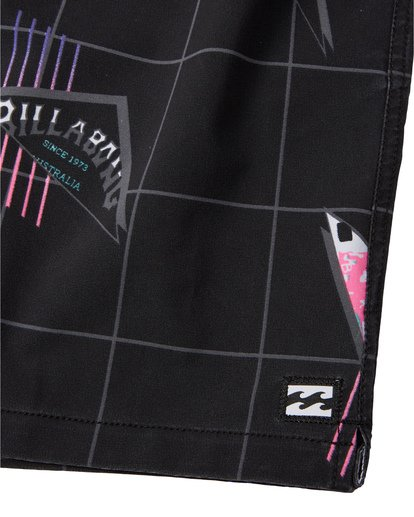 "7 Sundays Stretch Laybacks 16"" - Board Shorts for Men Black S1LB03BIP0 Billabong"