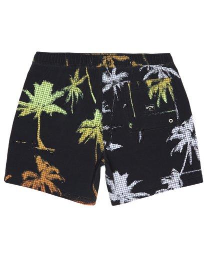 "3 Sundays Intrchng Laybacks 17"" - Elastic Waist Board Shorts for Men Blue S1LB05BIP0 Billabong"