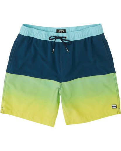 "2 Fifty50 Laybacks 17"" - Elastic Waist Board Shorts for Men Yellow S1LB06BIP0 Billabong"