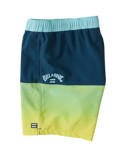 "4 Fifty50 Laybacks 17"" - Elastic Waist Board Shorts for Men Yellow S1LB06BIP0 Billabong"
