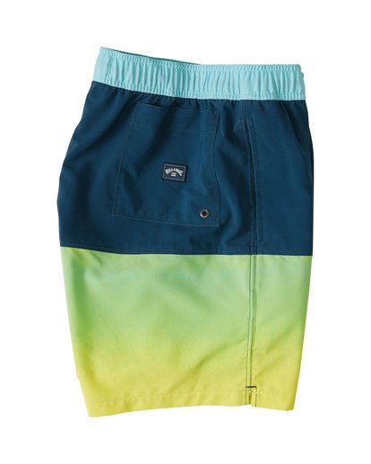 "5 Fifty50 Laybacks 17"" - Elastic Waist Board Shorts for Men Yellow S1LB06BIP0 Billabong"