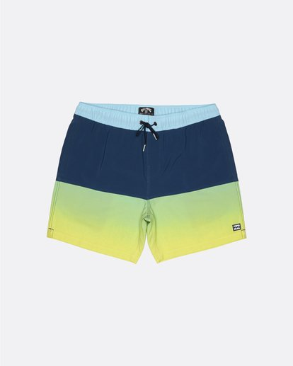 "0 Fifty50 Laybacks 17"" - Elastic Waist Board Shorts for Men Yellow S1LB06BIP0 Billabong"