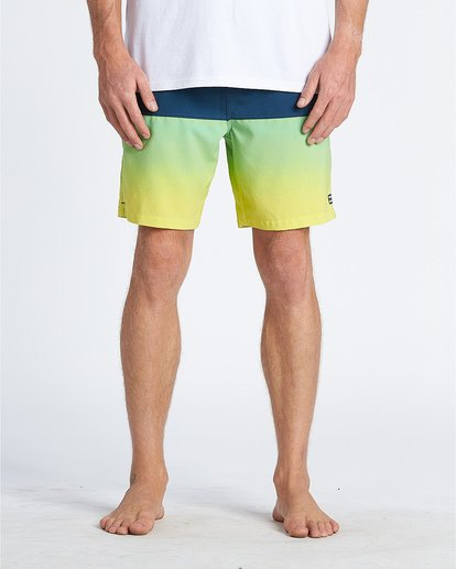 "9 Fifty50 Laybacks 17"" - Elastic Waist Board Shorts for Men Yellow S1LB06BIP0 Billabong"
