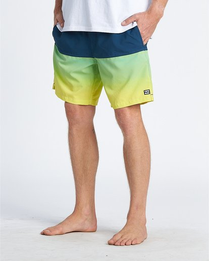 "11 Fifty50 Laybacks 17"" - Elastic Waist Board Shorts for Men Yellow S1LB06BIP0 Billabong"