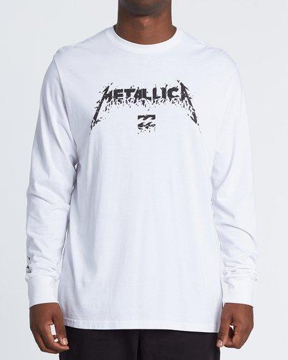 0 AI Metallica - Long Sleeve T-Shirt for Men Weiss S1LS31BIP0 Billabong