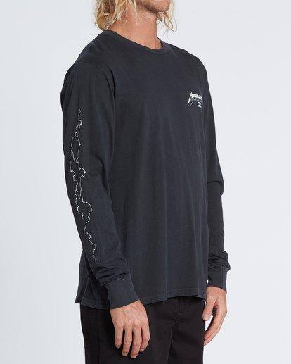 3 Ride The Lightning - Camiseta de manga larga para Hombre Negro S1LS32BIP0 Billabong