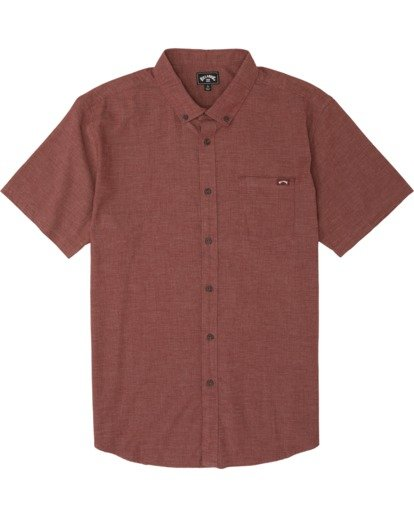 5 All Day - Camisa de manga corta para Hombre Marron S1SH01BIP0 Billabong