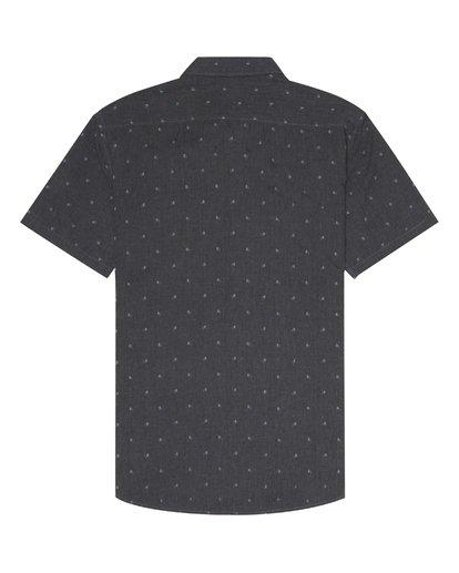 6 All Day Jacquard - Kurzärmeliges Hemd für Herren Schwarz S1SH03BIP0 Billabong