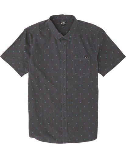 5 All Day Jacquard - Kurzärmeliges Hemd für Herren Schwarz S1SH03BIP0 Billabong