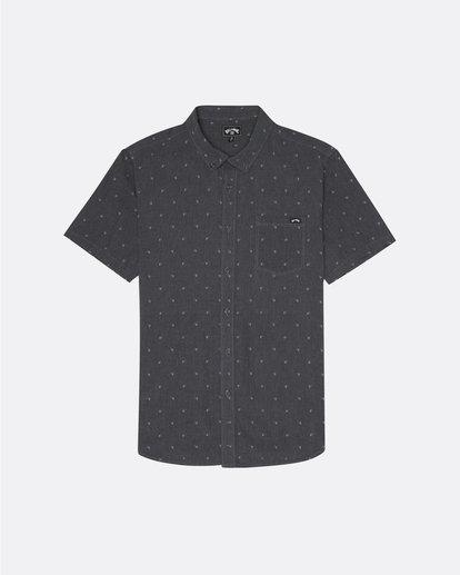 3 All Day Jacquard - Kurzärmeliges Hemd für Herren Schwarz S1SH03BIP0 Billabong