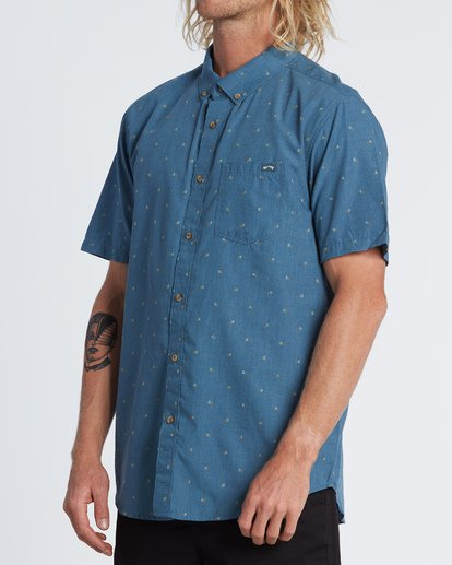 2 All Day Jacquard - Kurzärmeliges Hemd für Herren  S1SH03BIP0 Billabong