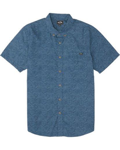 5 Sundays Mini - Chemise manches courtes pour Homme Bleu S1SH04BIP0 Billabong