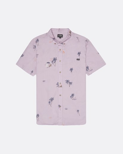 3 Sundays Mini - Short Sleeve Shirt for Men Pink S1SH04BIP0 Billabong