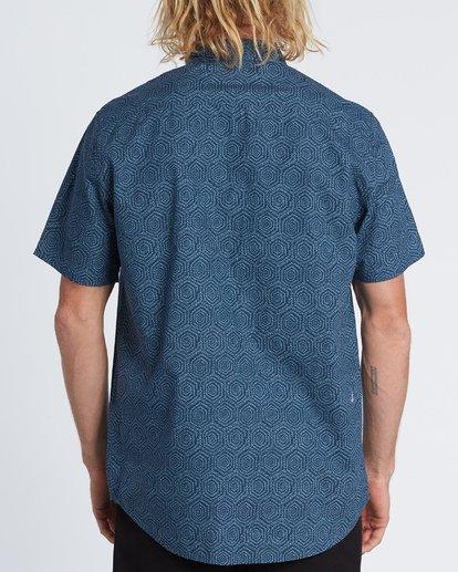 1 Sundays Mini - Chemise manches courtes pour Homme Bleu S1SH04BIP0 Billabong