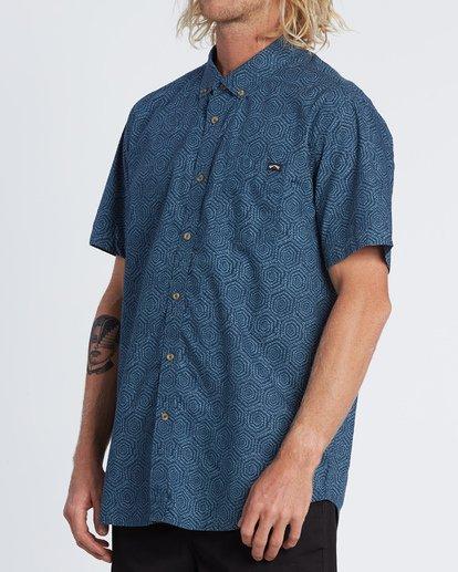 2 Sundays Mini - Short Sleeve Shirt for Men Blue S1SH04BIP0 Billabong