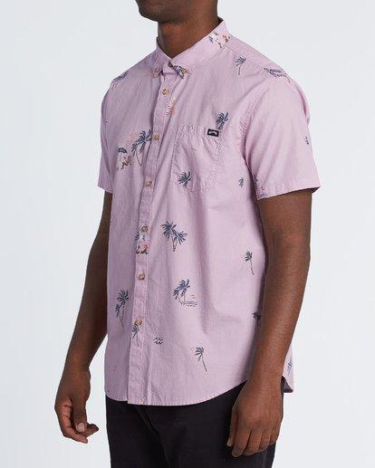 2 Sundays Mini - Short Sleeve Shirt for Men Pink S1SH04BIP0 Billabong