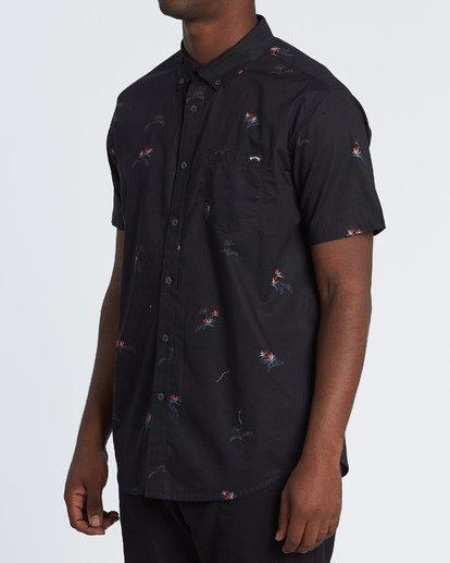 2 Sundays Mini - Kurzärmeliges Hemd für Herren Schwarz S1SH04BIP0 Billabong