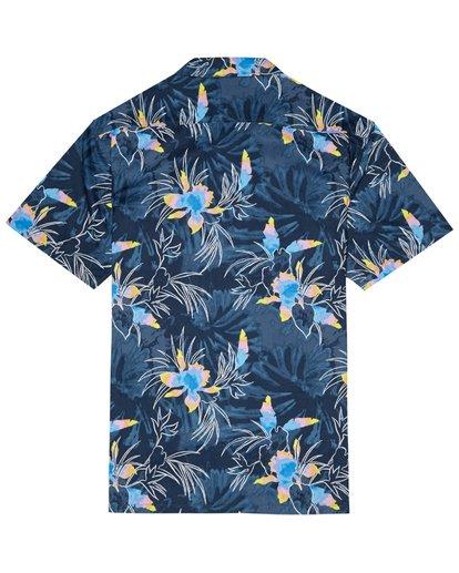 6 Sundays Floral - Kurzärmeliges Hemd für Herren Blau S1SH05BIP0 Billabong