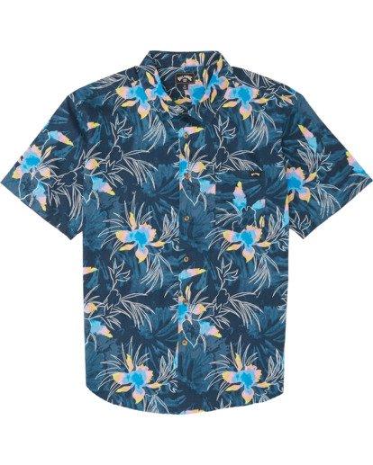 5 Sundays Floral - Kurzärmeliges Hemd für Herren Blau S1SH05BIP0 Billabong