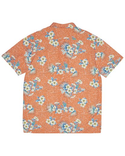 6 Sundays Floral - Kurzärmeliges Hemd für Herren Orange S1SH05BIP0 Billabong