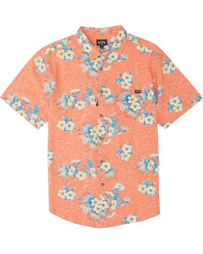 5 Sundays Floral - Kurzärmeliges Hemd für Herren Orange S1SH05BIP0 Billabong