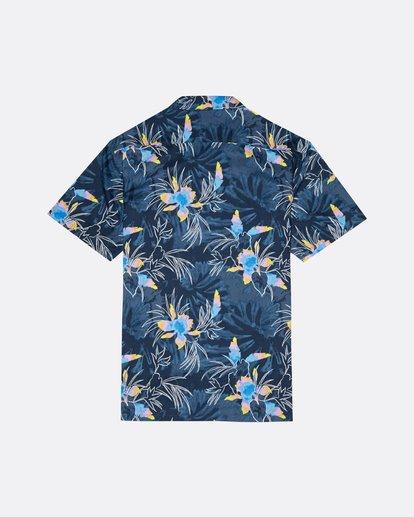 4 Sundays Floral - Kurzärmeliges Hemd für Herren Blau S1SH05BIP0 Billabong