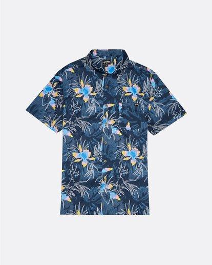 3 Sundays Floral - Kurzärmeliges Hemd für Herren Blau S1SH05BIP0 Billabong