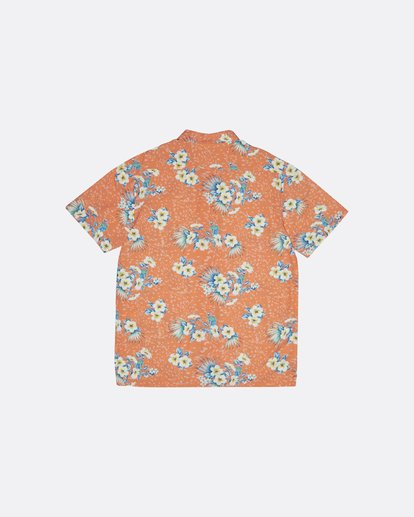 4 Sundays Floral - Kurzärmeliges Hemd für Herren Orange S1SH05BIP0 Billabong