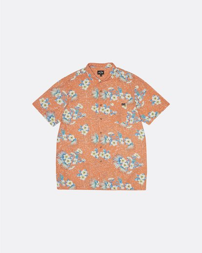3 Sundays Floral - Kurzärmeliges Hemd für Herren Orange S1SH05BIP0 Billabong