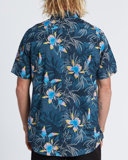 1 Sundays Floral - Kurzärmeliges Hemd für Herren Blau S1SH05BIP0 Billabong